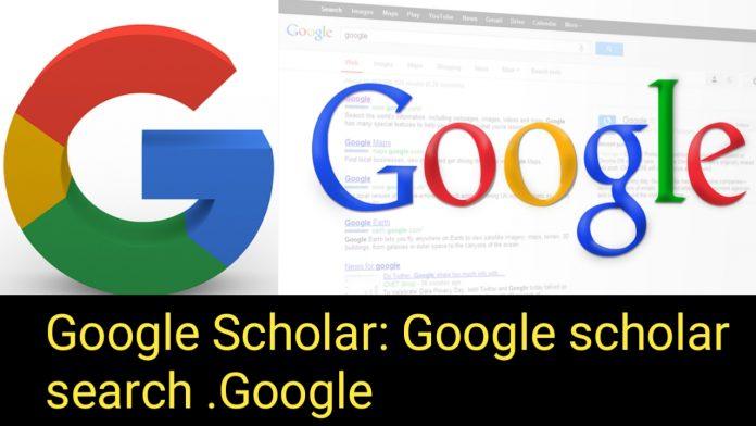 Google Scholar: Google Scholar search. GOOGLE
