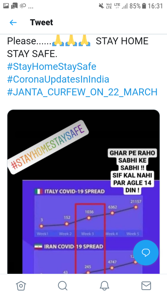 Coronavirus update: Janta curfew India Live. March 23 to March 31