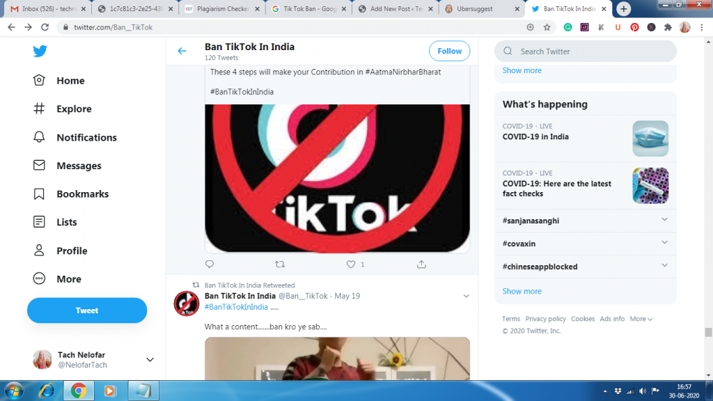 Tik Tok Ban in India: Tik Tok Ban, tik tok ban news.59 Chinese apps