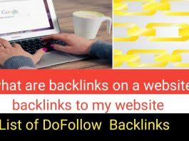 What are backlinks on a website List of DoFollow Backlinks. backlinks