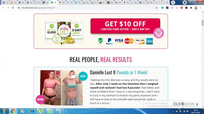 Smoothie weight loss diet plan
